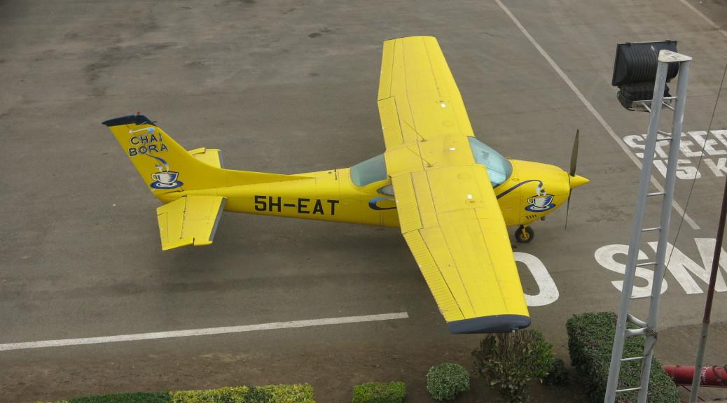 Chai Bora Plane at Arusha Airport